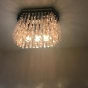 A decorative lightbulb in a ceiling fixture.