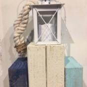 The finished nautical lantern.