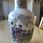 A decorative pottery jar.