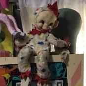A clown doll.