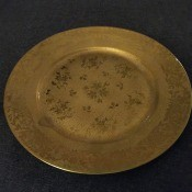 A Limoges gold plate.